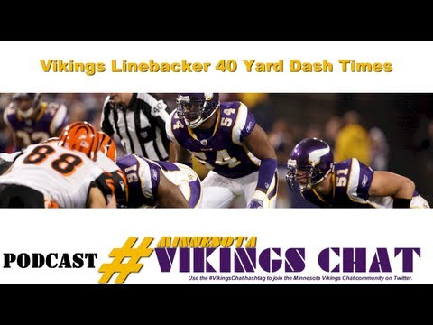 Minnesota Vikings Linebackers' 40 Yard Dash Times