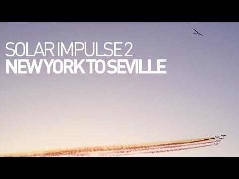 Solar Impulse Airplane - Leg 15 - Flight New York to Seville