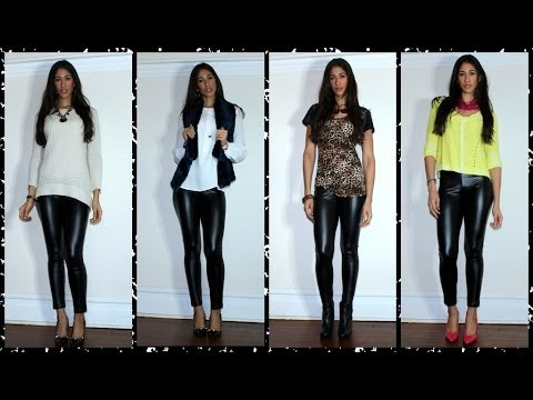 Leggings Style Tumblr How to Style Leather Leggings