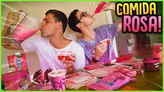 24 HORAS COMENDO COMIDAS DA COR ROSA!! [ REZENDE EVIL ]