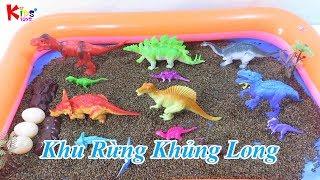 Mở hộp đồ chơi khu rừng khủng long | Open the dinosaur forest toy box