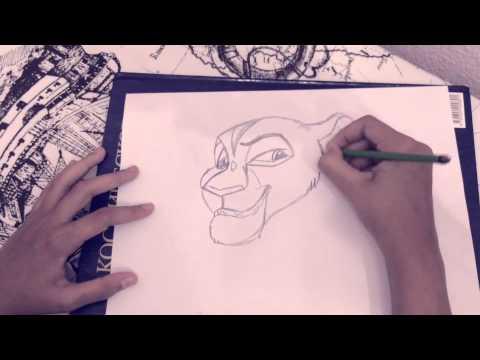 Видео как нарисовать львицу