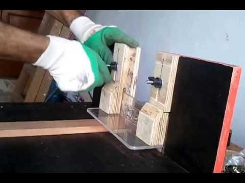 Bancadinha para tupia 3709 na horizontal para fazer cavas para espigas.
