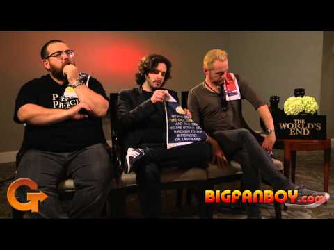 THE WORLD'S END Interview - Nick Frost, Edgar Wright, Simon Pegg