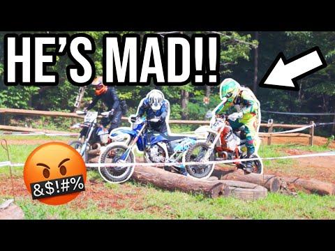 HE GOT BIG MAD! Road rage RACING DIRTBIKES!