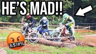 HE GOT BIG MAD! Road rage RACING DIRTBIKES!