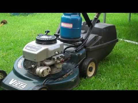 How to convert a Lawn Mower from Gas/Petrol to Propane / LPG DIY