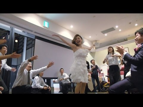 フラッシュモブ サプライズ 披露宴  「what Makes You Beautiful」 one Direction ver2 Flashmob video