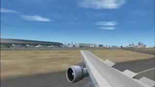 Landing at Dubai International Airport (DXB) FS 2004