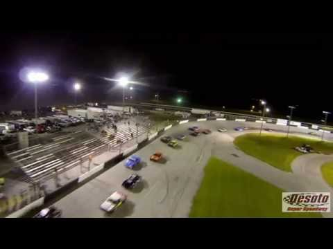 TBS discovery pro quadcopter chseing stock cars at desoto speedway
