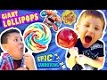 GIANT CHUPA CHUPS LOLLIPOPS vs. TOY!  Smash w/ Candy (Skyland...