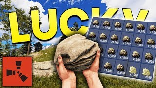 THE LUCKIEST SPAWN! - Rust SOLO Gameplay