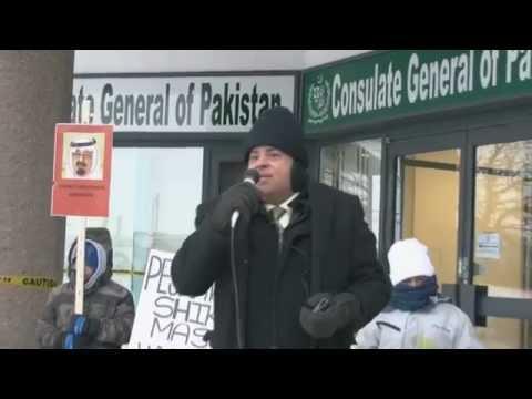 Br. Asif Javaid speaks at Toronto Protest Against Shikarpur Massacre 01Feb2015
