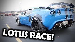 Lotus Elise vs Mustang 5.0!! Will my toe be cutoff?