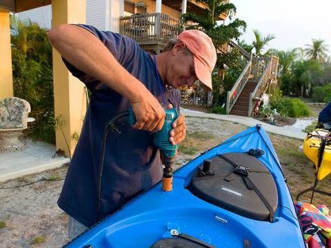 How To Install A Kayak Fishing Rod Holder Youtube