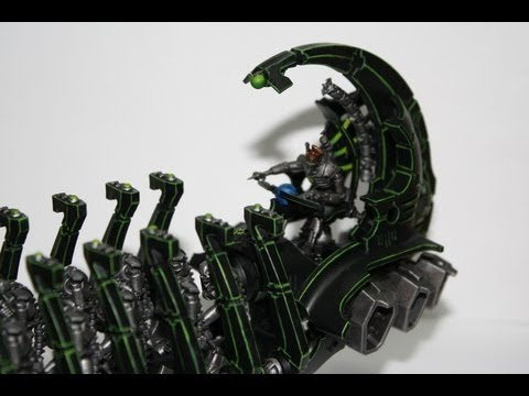 Warhammer 40K Painting Tutorial - How to Paint a Necron Ghost Ark