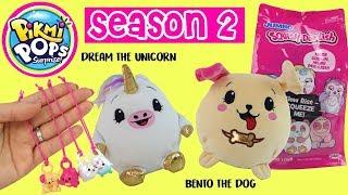 Jumbo Pikmi Pop Season 2 Dream the Unicorn & Bento the Dog And Jumbo Squish Dee Lish  Haul
