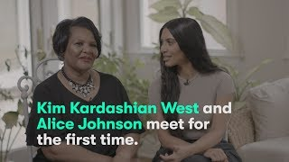Kim Kardashian West meets Alice Marie Johnson for the first time