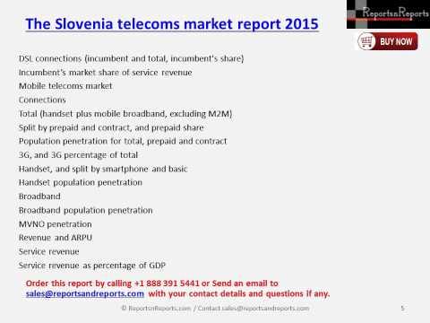 The Slovenia telecoms market report 2015