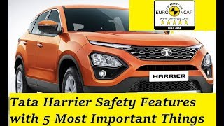 Tata Harrier Safety Features Review with NCAP Crash Test Rating as Expected