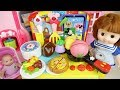 Baby doll and kitchen food cooking play