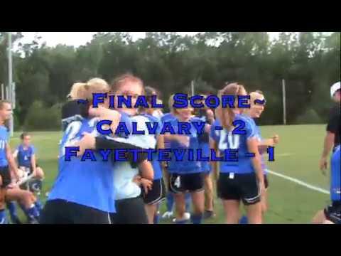 Calvary Baptist Day School Women's Soccer State Championship Journey, 2009