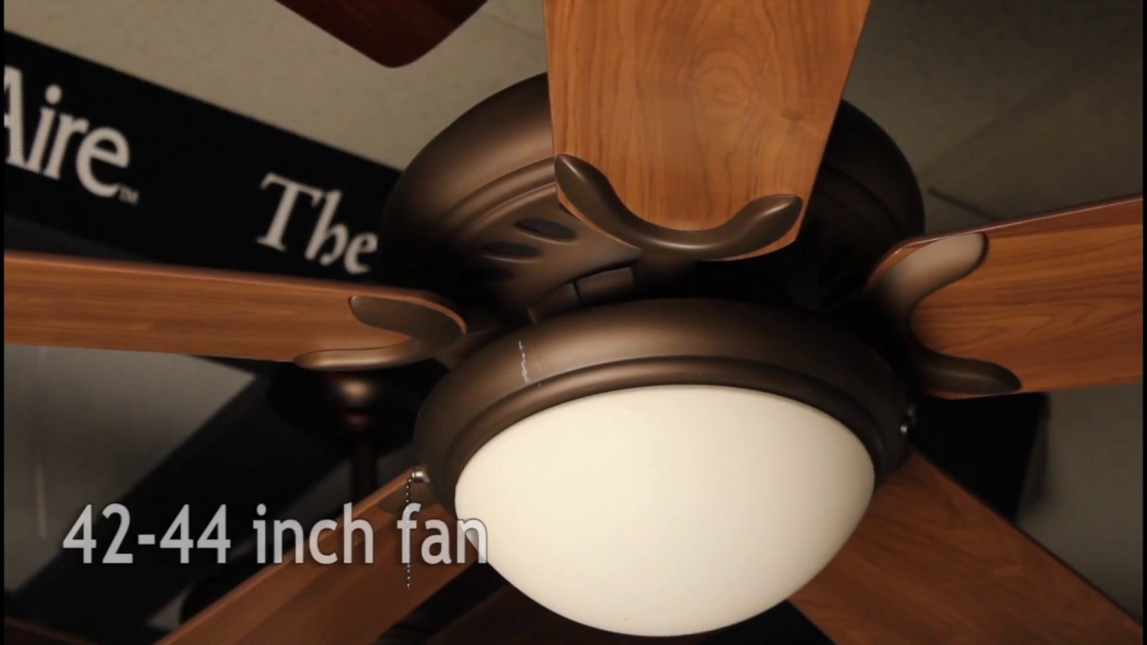 How to size your ceiling fan blades youtube for Ceiling fan size calculator