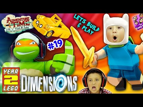 ADVENTURE TIME w/ NINJA TURTLES! Land of Ooo Level (Let's Build & Play LEGO Dimensions YEAR 2 #19)