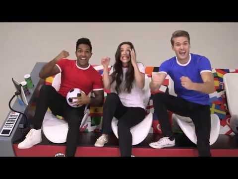 Coleen Rooney & Djibril Cisse Present the Ultimate Pringles Super Sofa