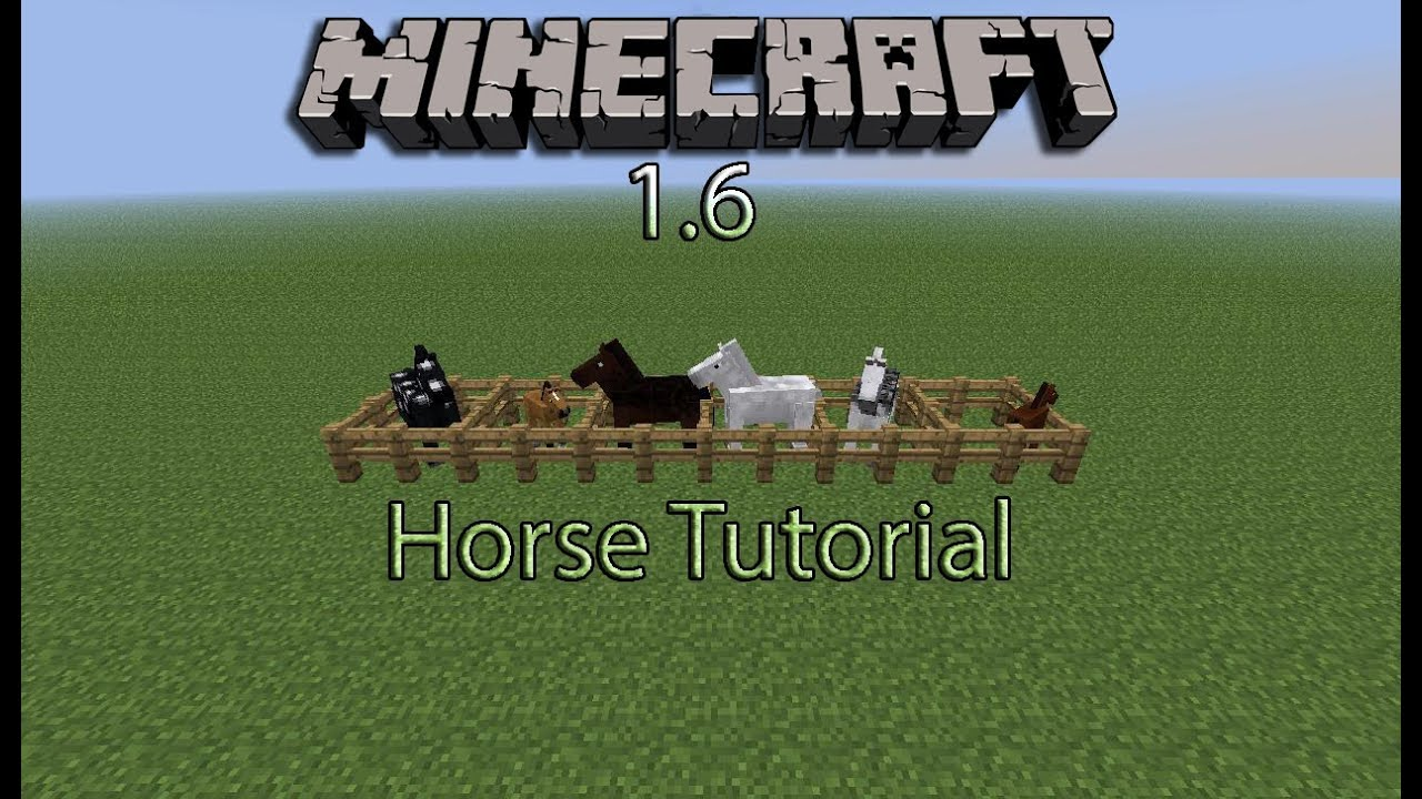 how to get horses in minecraft pc