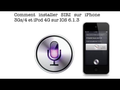 Comment installer SIRI sur iPhone 3Gs/4 et iPod touch 4G sur IOS 6.1.3