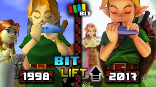 Legend of Zelda Ocarina of Time (1998) vs. (2017) Graphics | Bit Lift [TetraBitGaming]