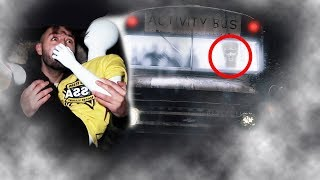 (PURPLE GUY?) DONT PLAY WITH A MANNEQUIN AT 3 AM AT THE FNAF SCHOOL BUS| THE SCHOOL BUS DISAPPEARED!