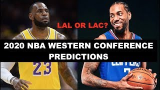 Predicting the 2019-2020 NBA Western Conference Standings