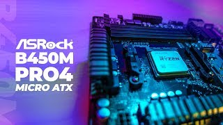ASRock B450M Pro4 Micro ATX - First Look and Unboxing