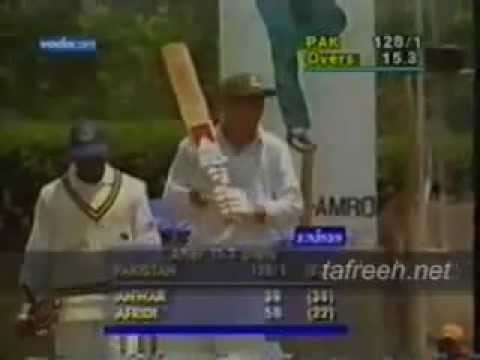 Afridi Fastest Century video