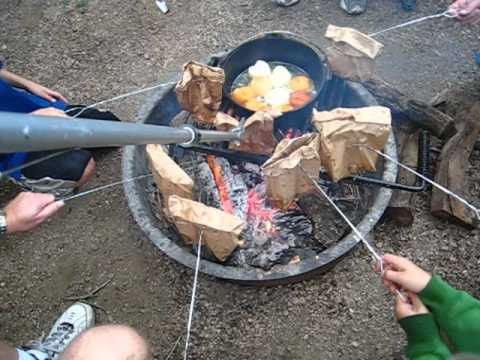 Campfire Breakfast Cooked in a Brown Paper Lunch Bag