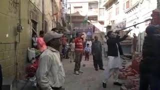 Encroachment n MQM ki badmashian. Unable to see other illegal encroachments. 😋