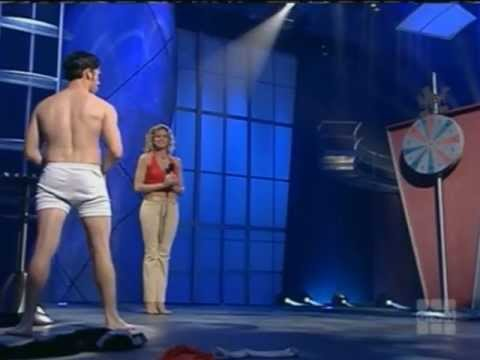 Women strip naked on television