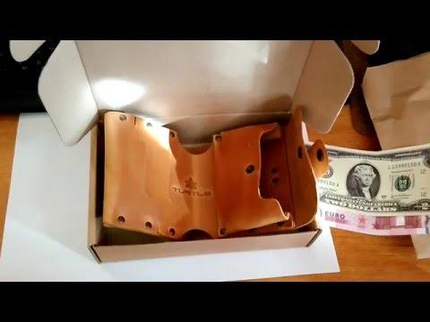 Распаковка кожаного кошелька Turtle