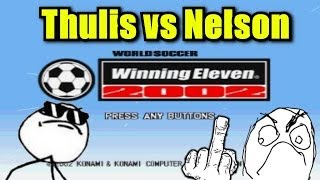 Gameplay Winning Eleven 2002 PS1 - Argentina vs Alemanha - (Thulis vs Nelson)