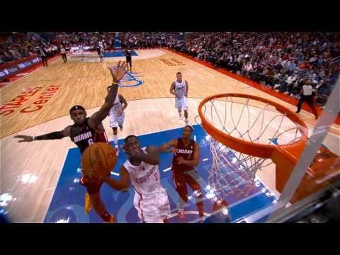 LeBron James Chases Down Darren Collison for the BIG Swat