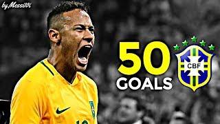 Neymar JR ▶ All 50 Goals with BRAZIL ¦ 2010 - 2016 ¦ HD
