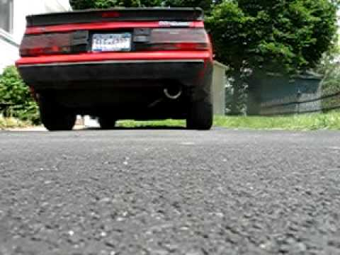 mitsubishi starion dodge conquest loud performance exhaust custom