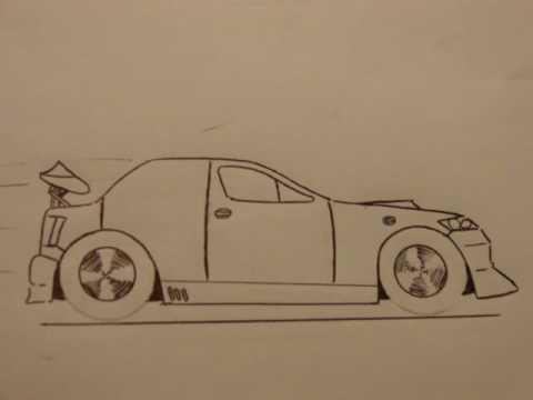 Como hacer dibujos de carros a lapiz - Imagui