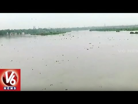 Flood Warning Issued In Delhi As Yamuna Water Rises Due To Heavy Rains | V6 News