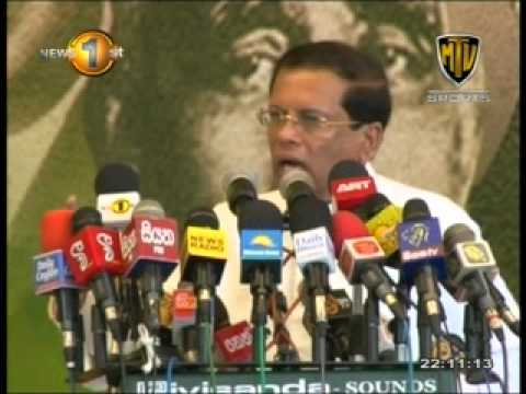 Maithripala Sirisena - Complete Speech MTV Sports - 26th November 2014