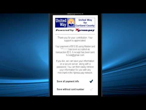 Xpress-pay mobile payments (donations)