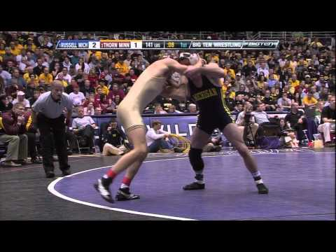 Kellen Russell vs Mike Thorn (141) - 2011 Big Ten Wrestling Championship