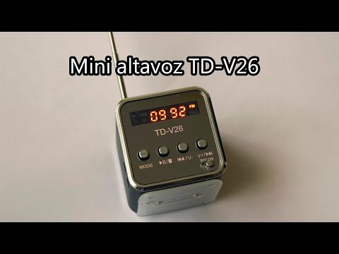 El mejor mini altavoz calidad-precio TD-V26 (USB, mp3, Micro SD, radio FM)